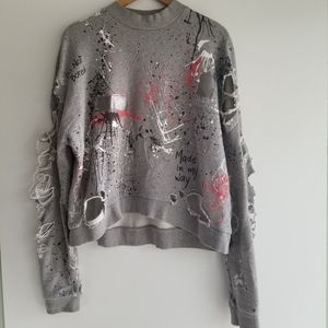 Zara distressed sweater
